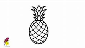 Pineapple - how to draw Pineapple - easy Drawing - YouTube