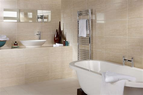 Dorchester Travertine 300x600 Bathroom Wall Tiles