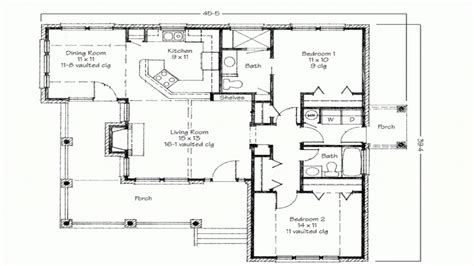 2 Bedroom House Simple Plan Two Bedroom House Simple Floor