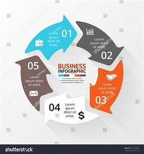 Vector Circle Infographic Template Cycle Diagram Stock Vector 247326526