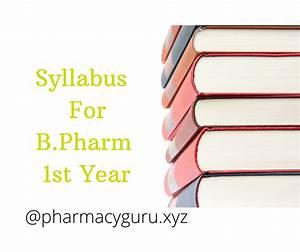 Syllabus For B Pharmacy 1st Year