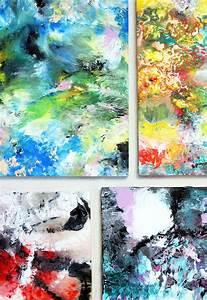 Alisa Burke: marbled acrylic painting