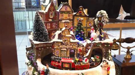 beautiful fiber optic christmas village scene  moving