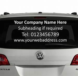 rear window custom car vinyl graphics sticker business With custom rear window lettering