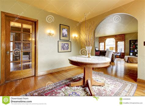 luxury entrance home interior   table stock image image