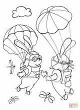 Sky Coloring Each Rabbits Pages Template Parachutists Met Skydiver Books Sketch Coloringpagesonly sketch template