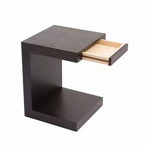 slide in side table walnut l39eclectique la touch of With tables de nuit design