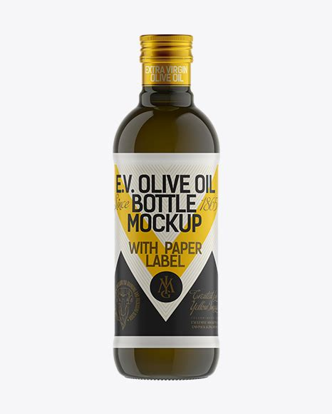 This beauty bottle mockup is perfect to display your makeup brand, don't you think? 500ml Antique Green Olive Oil Bottle Mockup in Bottle ...
