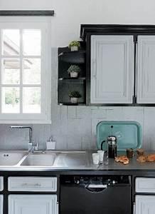 Meuble De Cuisine Noir : peinture ultra solide pour repeindre ses meubles de cuisine ~ Teatrodelosmanantiales.com Idées de Décoration