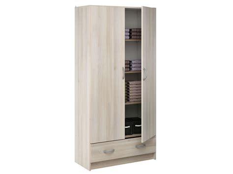 alinea armoire chambre ère 2 portes 1 tiroir cobi coloris acacia vente de
