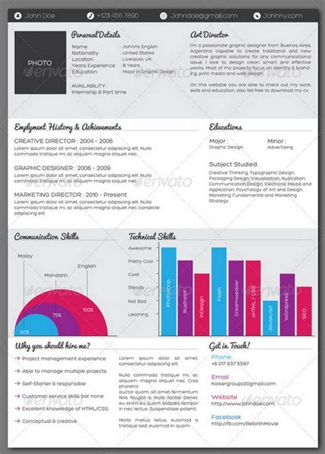 infographic resume 187 infographic resume powerpoint