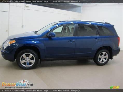 2008 Suzuki Xl7 Limited by 2008 Suzuki Xl7 Limited Awd Sapphire Blue Metallic Beige