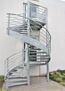 Escalier Métallique Industriel : ih33 photo escaliers d cors escalier en colima on ext rieur desservant 2 niveaux ~ Melissatoandfro.com Idées de Décoration
