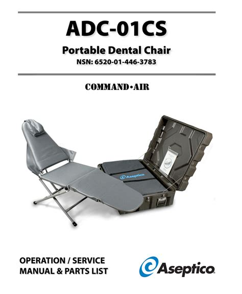 adc 01cs aseptichair portable dental chair