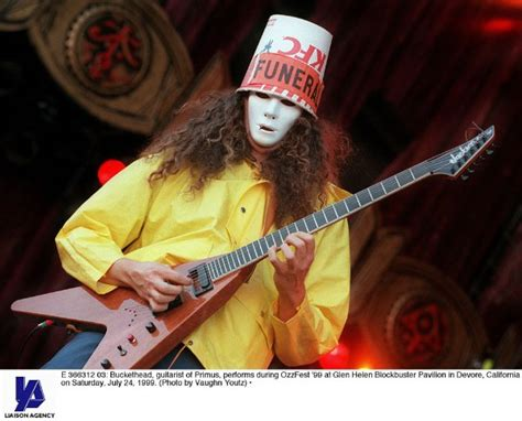appearance - Is Buckethead's trademark bucket hat an ...