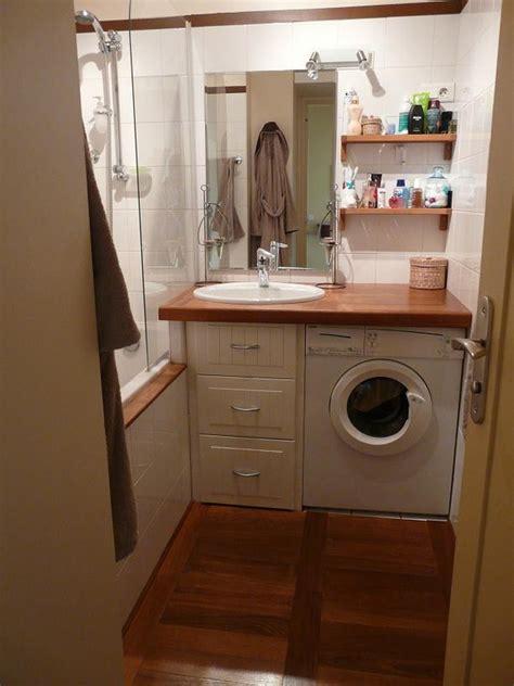 installer plan de travail sur machine a laver la salle de bain appartsceaux