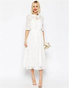 asos bridal lace bandeau midi prom dress with crop jacket With robe mi longue dentelle