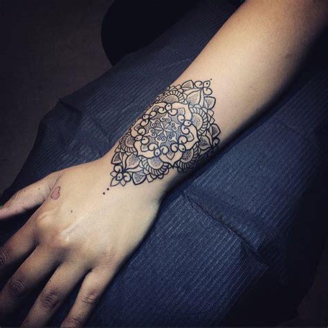 pretty mandala wrist tattoo  tattoo design ideas tattoo pinterest wrist tattoo