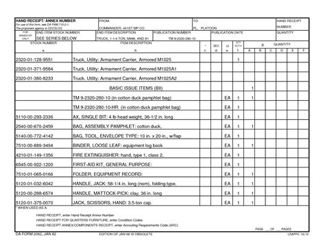 army hand receipt form best photos of da form 2062 receipt da form 2062 hand