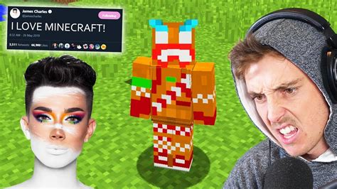 playing minecraft  james charles  collab youtube