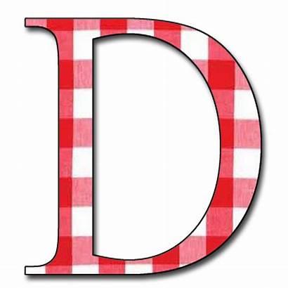 Alphabet Gingham Letter Scrapbook Letters Capital Plaid