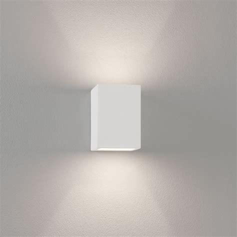 mosto white plaster wall light paintable rectangular wall