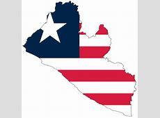 Liberia Flag Map • Mapsofnet