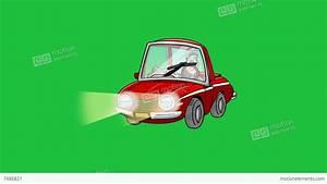 Exploding Cartoon Car: +Matte Stock Animation | 7486821