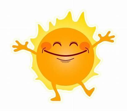 Sunny Sunshine Happy Clipart Side