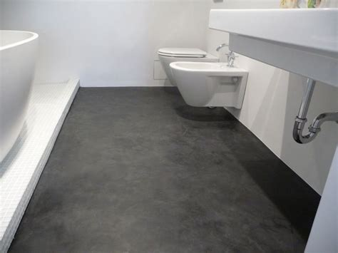 Modern Bathroom Finishes by This Floor Was Covered With A Layer Of Dyed Ardex Then