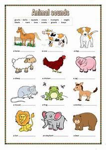 Animal sounds. (key included) worksheet - Free ESL ...