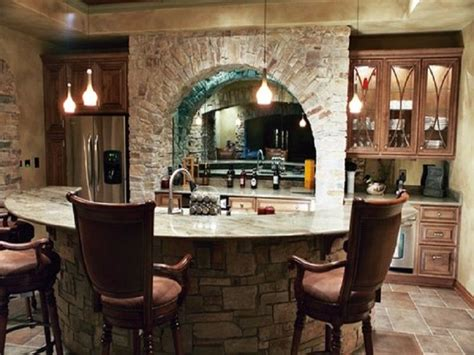 Basement Bar Island by Rustic Basement Bar Ideas With Island Http
