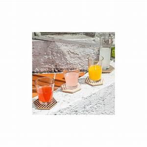 Dessous De Verre Bois : dessous de verre 3d blanc bois arne concept ~ Teatrodelosmanantiales.com Idées de Décoration