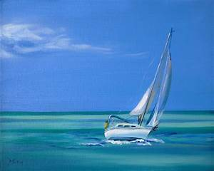 Sailing The Seas Painting by Donna Tuten