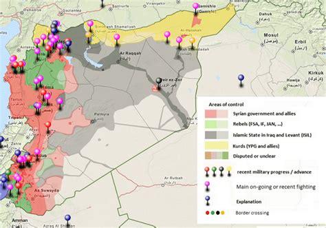 situation  syria brilliant maps