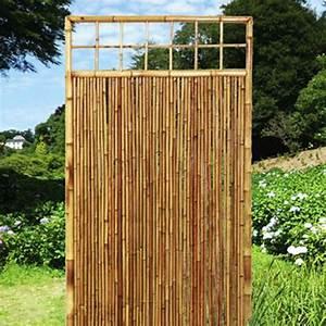 sichtschutzelemente bambus sichtschutzwande natur With französischer balkon mit natur sichtschutz garten