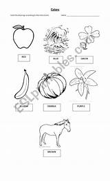 Objects Coloring Worksheet Worksheets sketch template