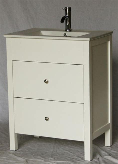 28 inch 18 inch deep bathroom vanity modern style white