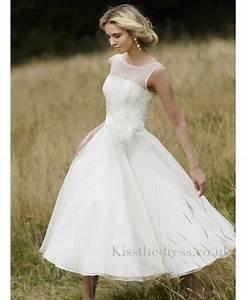 Tea length wedding dresses for older brides at short for Beach wedding dresses for older brides