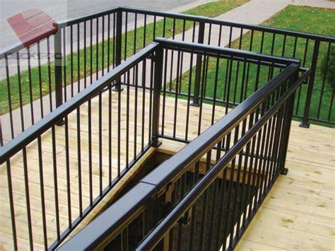 aluminum railing    degree corner   access ramp