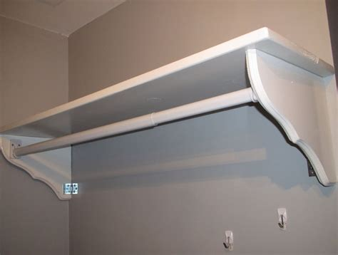 how to install closet rod in drywall home design ideas