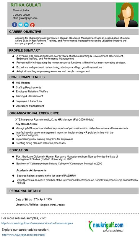 Cv And Resume Format by Resume Format Kuwait Resumeformat 2 Resume Format
