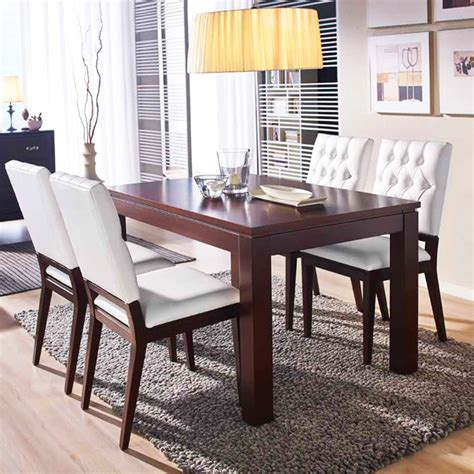 mesa de comedor extensible moderna madera pino