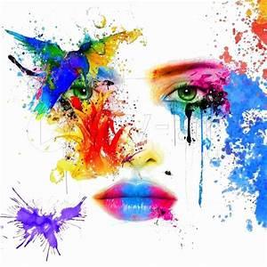 Tableau Moderne Coloré : tableau peinture dessin regard colore une toile de daniel burgraeve impression sur dibond ~ Teatrodelosmanantiales.com Idées de Décoration
