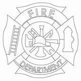 Maltese Cross Coloring Fire Department Template Clip Clipart Firefighter Flames Sketch Fireman Sketchite Firemen Colorear Dibujos Helmet Rescue Credit Larger sketch template