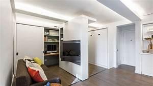 Mur Végétal Intérieur Ikea : des murs coulissants motoris s dans un petit appartement ~ Dailycaller-alerts.com Idées de Décoration