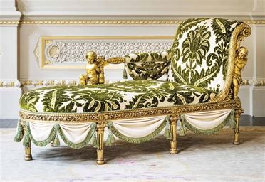 french giltwood chaise longue  henri auguste
