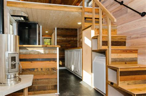 one bedroom floor plans craftsman style tiny home featuring cedar siding and
