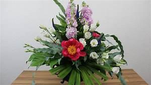 Floristik Deko Ideen : floristik anleitung blumengesteck mit steckschaum deko ideen mit flora shop youtube ~ Eleganceandgraceweddings.com Haus und Dekorationen