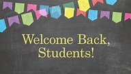 Image result for welcome back students